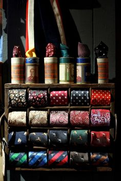 Thomas Farthing Formal Wear. I love this display!