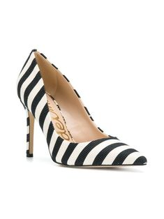 46e8c045018b  Hazel  Stripe Heel - BernardBoutique. Sam Edelman ivory and black  hazel   stripe heels featuring a pointed toe ...