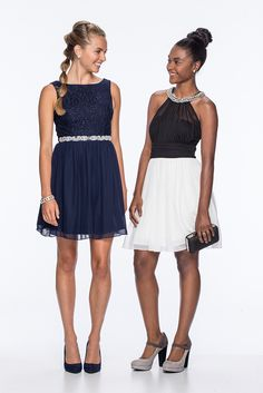 Make homecoming the best night ever with the perfect dress and the best of friends. (Cute shoes help, too!) Featured Homecoming dresses from Speechless: lace chiffon dress in navy and halter-top, black and white dress. The perfect night starts with the perfect dress from Kohl's.