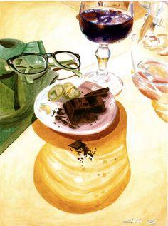 Chily y chocolate  2013 (20,5 x 27,5  watercolor on paper) https://www.facebook.com/Riflessi-e-trasparenze-di-Germana-Galdi-152645784768295/