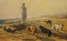 Palas Atenea y los perros del pastor, Briton Rivière
