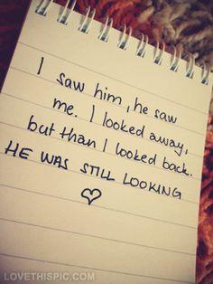He was still looking