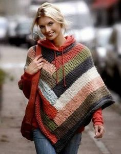 Resultado de imagem para ponchos de trico