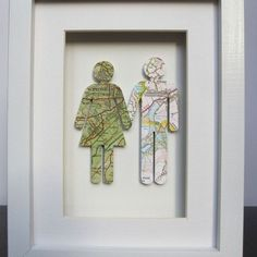 Where each couple is from map picture. Cute wedding gift idea.