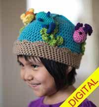 Fishbowl #Beanie Digital #Crochet Pattern from Love of Crochet magazine, Spring 2015