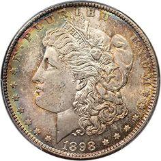 1898 P Morgan Dollars Dollar MS66 PCGS -- Read more  at the image link.