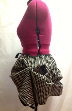 Houndstooth Plus Size Bustle by seamstressofsteam on Etsy, $35.00