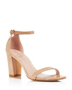 Stuart Weitzman Nearlynude Ankle Strap Sandals