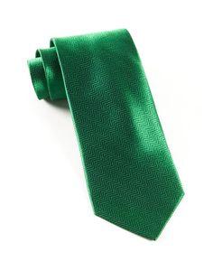 HERRINGBONE TIES - EMERALD GREEN   Ties, Bow Ties, and Pocket Squares   The Tie Bar