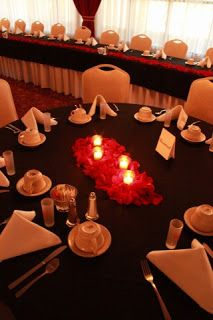 Soiree Event Design: Red and Black Wedding