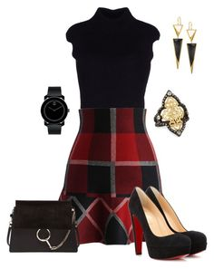Untitled #541 by angela-vitello on Polyvore featuring polyvore, fashion, style, Dsquared2, Chicwish, Christian Louboutin, Chloé, Lana, Armenta, Movado and clothing