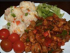 Obrázek z Recept - Kuřecí čína s rýží třech barev