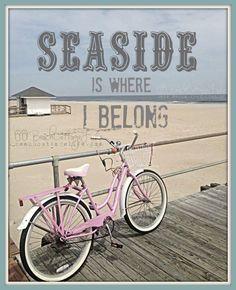 ~ Pink beach cruiser on the boardwalk ~ Pink Beach, Beach Bum, Ocean Beach, Summer Beach, Summer Breeze, Tenerife, Beach Quotes, Ocean Quotes, Beach Memes