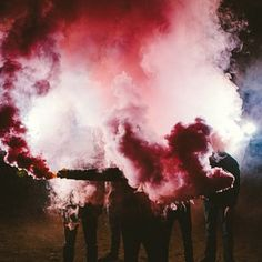 Smoke Bombs | Band Photos  Thoughts: Smoke is cool - especially when it's colored.