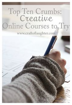 Online classes are exploding in popularity and the reasons why are endless: time, opportunity, personal attention, budget, etc. Indeed, online workshops have helped both of us re-discover passion, as well as to learn completely new crafts, hobbies, and business ideas. Here are our Top Ten Crumbs of Creative Online Workshops you might want to try, too!