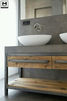 It's sample vanity with modern style. Art design gallery make it