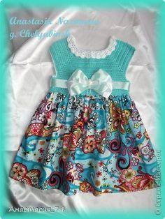 Гардероб Вязание крючком Шитьё Платье для моей принцессы Бусины Ленты Нитки Ткань фото 3 [] # # #Rubrics