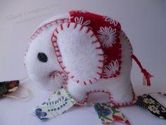 Personalised felt elephant £10.00 - #craftfest