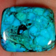 17.75cts. Brilliant TIBET TURQUOISE cushion CABOCHON Gemstones (jaipurgems2016) #Handmade