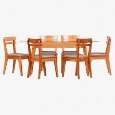 Juego Comedor Turin Rectangular Glass Dining Room Table, Chair, Furniture, Home Decor, Houses, Wood, Home, Glass Dining Table, Decoration Home