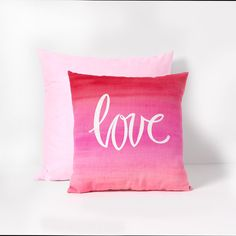 Watercolor Heart Pillow for Valentine's Day - Project | Plaid Online