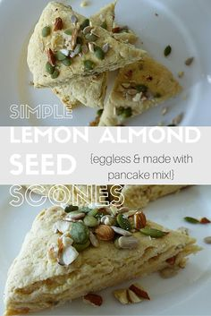 Simple Lemon Almond Seed, made with pancake mix and eggless!
