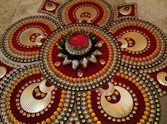 Sunflower Rangoli Elegant Rangoli Indian by JustForElegance, $39.00