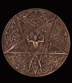 Horned God and Goddess Plaque by Maxine Miller