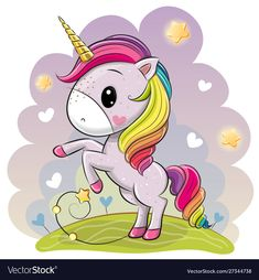Find Cute Cartoon Unicorn Lush Rainbow Mane stock images in HD and millions of other royalty-free stock photos, illustrations and vectors in the Shutterstock collection. Thousands of new, high-quality pictures added every day. Cute Rainbow Unicorn, Baby Unicorn, Unicorn Art, Rainbow Cartoon, Cartoon Kunst, Cartoon Art, Cartoon Mignon, Unicornios Wallpaper, Barbie Paper Dolls