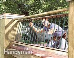 Build a No-Rot, No-Maintenance Deck Deck Building Plans, Deck Framing, Wood Decks, Concrete Footings, Cement Siding, Deck Railings, Composite Decking, Decks And Porches, Deck Design
