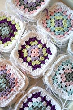 Crochet (Finish all Grannies in one color... the same color that will be used to join.)