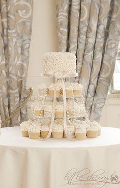 Wedding Cake, Cupcakes