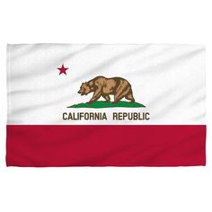California Flag Polyester Beach Towel