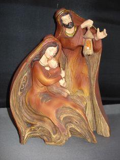 Nativity Holy Family Carving  29225 46  | eBay