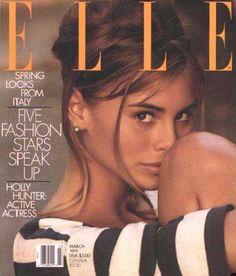 Elle US, March 1991  Photographer: Gilles Bensimon  Model: Niki Taylor