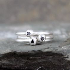 Hey, I found this really awesome Etsy listing at https://www.etsy.com/listing/207758808/black-diamond-promise-ring-sterling