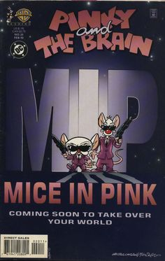Pinky And The Brain #20, February 1998, cover by Walter Carzon and Mike DeCarlo