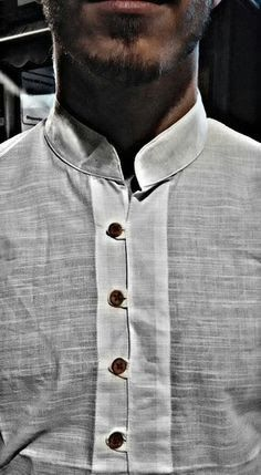 Resultado de imagen para camisas manga larga hombre sin cuello