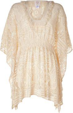 Ivory Crochet Lace Tunic - Lyst