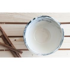 Marble black and white.Hand made ceramic bowl with glossy glaze. (€31) ❤ liked on Polyvore featuring home, kitchen & dining and serveware