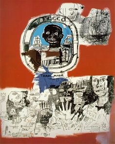 Jean Michel Basquiat, Logo, 1984 Jean Michel Basquiat ( 1960 - 1988 ) American Neo-Expressionist : More At FOSTERGINGER @ Pinterest