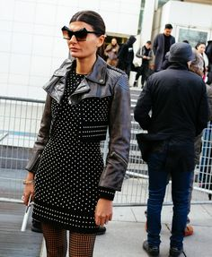 Giovanna Battaglia - Street Style Paris Fashion Week