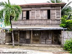 Old Houses on Bantayan Island in the Philippines