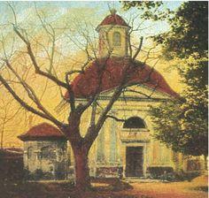 Tato kaple stávala v prostoru současného zadního výjezdu od Baumarktu naproti Kukaňově ulici - Kadaňská kaple Painting, Art, Tatoo, Historia, Art Background, Painting Art, Kunst, Paintings, Performing Arts