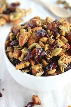 "Pumpkin and Cranberry {Grain Free} ""Granola"""