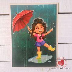 """Print """"Dançar na chuva"""". Enviamos para todo Brasil via carta registrada"""
