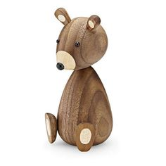 The Bear Family, Objet Deco Design, Danish Design Store, Wood Turning Projects, Wooden Animals, Small Baby, Wood Lathe, Wooden Decor, Wood Toys