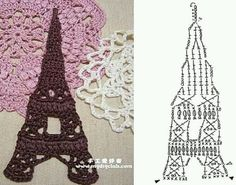 Tour eiffel crochet