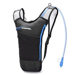 Blitzwing Hydration Pack with 70 oz 2L Bladder for Running Hiking Riding Camping Cycling Climbing - Best Lightweight Backpack Water Bag for Runner Outdoor Bicycle & Bike Sports (Blue)