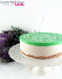 Simple No-Bake Gluten-Free Vegan Cheesecake for St. Patrick's Day